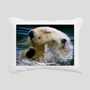 beaver greting Rectangular Canvas Pillow