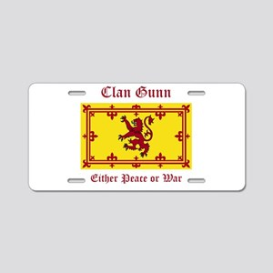 Gunn Aluminum License Plate