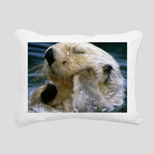 beaver pillow Rectangular Canvas Pillow