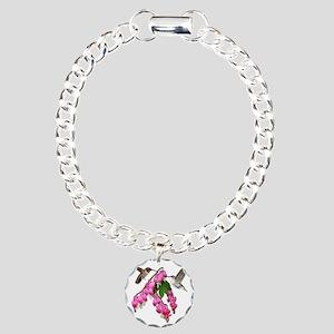 3  .5x3 clear 3 Charm Bracelet, One Charm