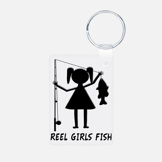 reel girls fish Keychains
