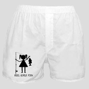 reel girls fish Boxer Shorts
