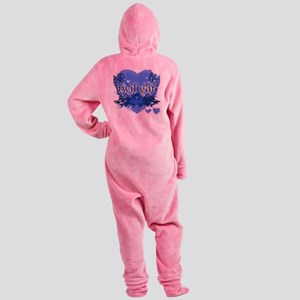 twilight forever blue copy Footed Pajamas