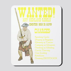wanted-highlanders001h Mousepad