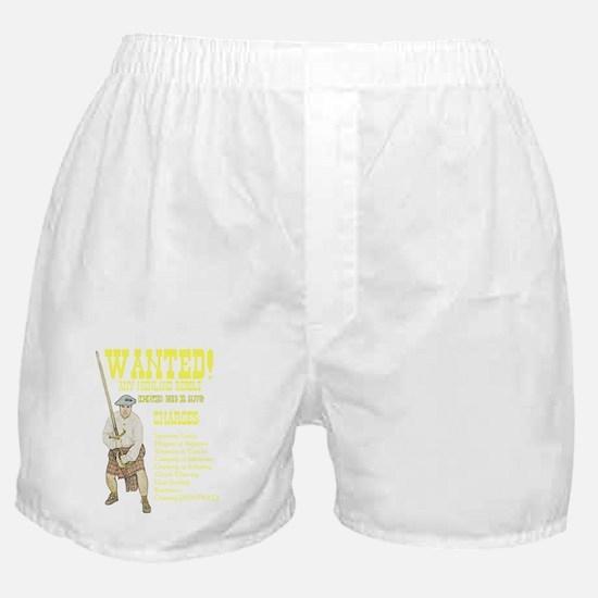 wanted-highlanders001h Boxer Shorts