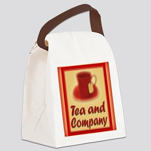 Tea and Company greeting card Canvas Lunch Bag