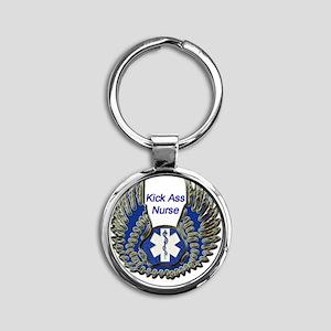 Kick Ass Nursepsd copy Round Keychain