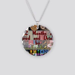 FoodAndDrinkCalendar Necklace Circle Charm