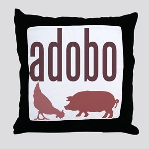adobo3brown_CPDark Throw Pillow