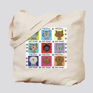 Meow Cat Lover Tote Bag