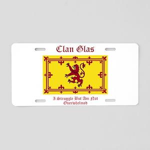 Glas Aluminum License Plate