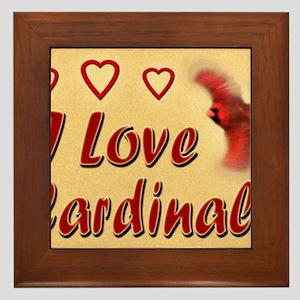 I Love Cardinals 9x7 Framed Tile