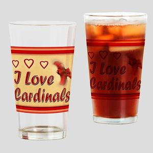I Love Cardinals notecard Drinking Glass