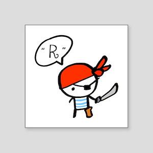 """pirate_0117f Square Sticker 3"""" x 3"""""""