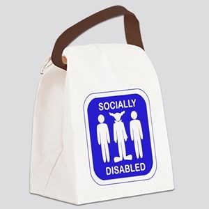 Socially Disabled Canvas Lunch Bag