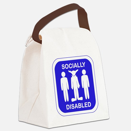 Socially Disabled.gif Canvas Lunch Bag