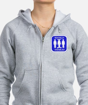 Socially Disabled.gif Zip Hoodie