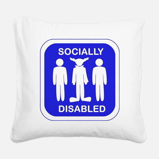 Socially Disabled.gif Square Canvas Pillow