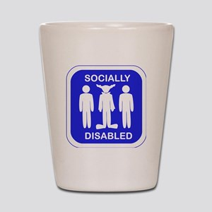 Socially Disabled Shot Glass