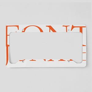 Font Junkie License Plate Holder