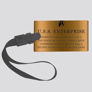 enterpriseplaque04 Large Luggage Tag