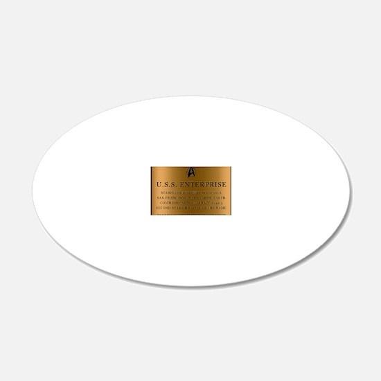 enterpriseplaque04 Decal Wall Sticker