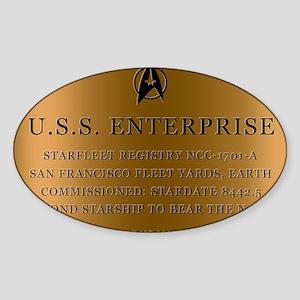 enterpriseplaque04 Sticker (Oval)