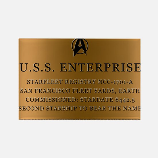 enterpriseplaque04 Rectangle Magnet