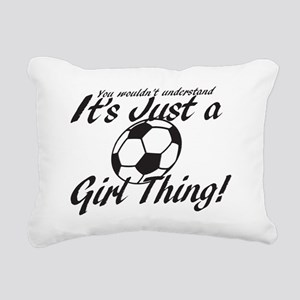 Soccer Girl Thing Rectangular Canvas Pillow