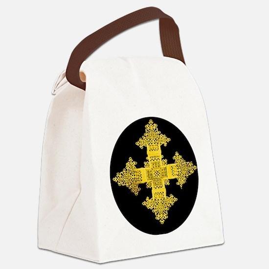 ethiopia cross performance jacket Canvas Lunch Bag