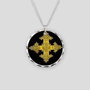 ethiopia cross performance j Necklace Circle Charm