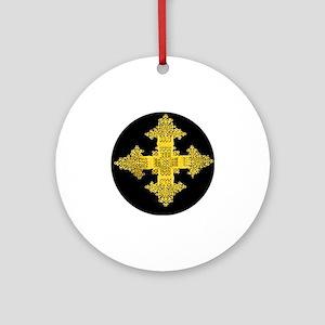 ethiopia cross performance jacket Round Ornament