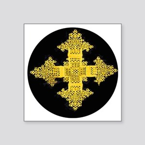 "ethiopia cross performance  Square Sticker 3"" x 3"""