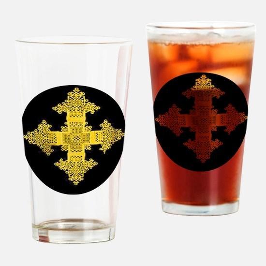 ethiopia cross performance jacket Drinking Glass