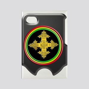 rasta ethiopia cross i phone 4 sl Rectangle Magnet