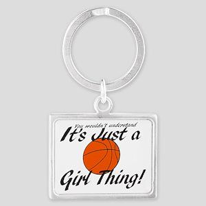 basketball Girl Thing Landscape Keychain
