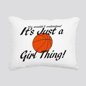 basketball Girl Thing Rectangular Canvas Pillow