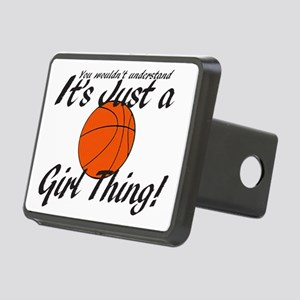 basketball Girl Thing Rectangular Hitch Cover