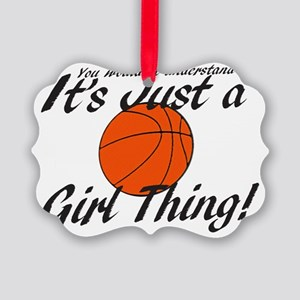 basketball Girl Thing Picture Ornament