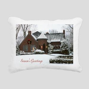 Seasons Greetings Christ Rectangular Canvas Pillow