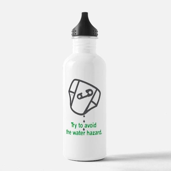 Golf_WaterHazard_green Water Bottle