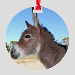 Miniature Donkey Round Ornament