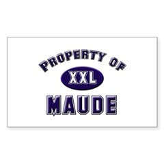 Property of maude Rectangle Decal