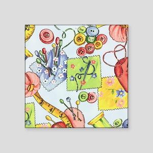 """fabric_3 Square Sticker 3"""" x 3"""""""