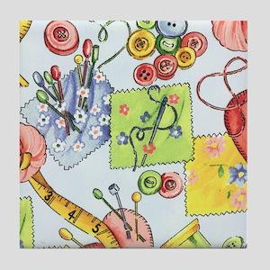 fabric_3 Tile Coaster