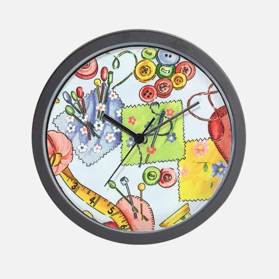 fabric_3 Wall Clock