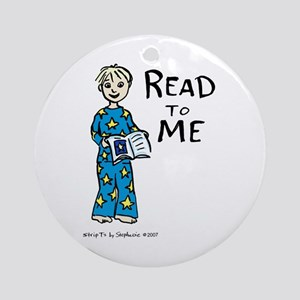 Read To Me boy 2 Ornament (Round)