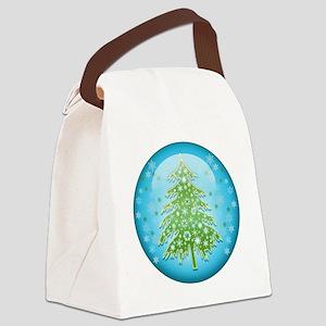 ChristmasTreeHuggerRPtr Canvas Lunch Bag