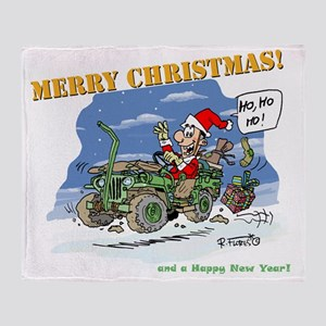 Classic US WW2 4WD card Throw Blanket