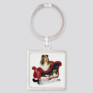 GraceSleigh Square Keychain